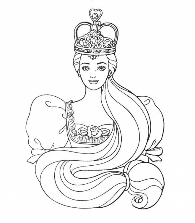 Coloriage et dessins gratuits reine Barbie à imprimer