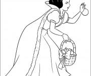 Coloriage et dessins gratuit Blanche cueille une pomme à imprimer