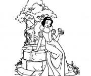 Coloriage princesse blanche neige gratuit imprimer liste 40 60 - Blanche neige et son prince ...