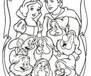 Coloriage et dessins gratuit La famille de blanche à imprimer