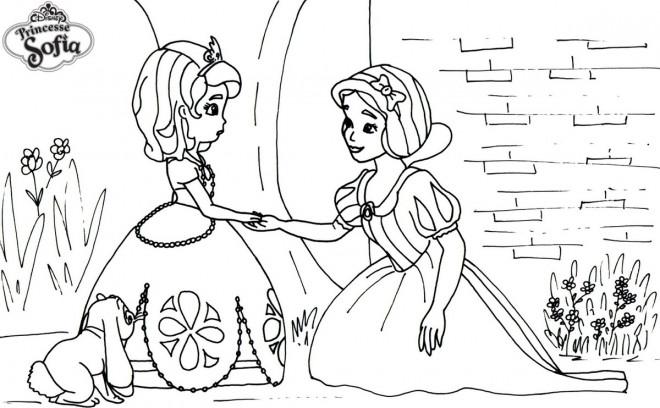 Coloriage La Princesse Sofia Dessin Gratuit A Imprimer