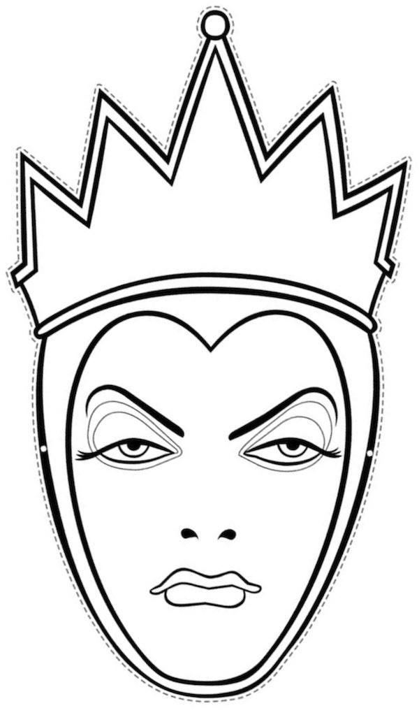 Coloriage et dessins gratuits La Reine à découper à imprimer