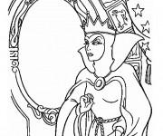 Coloriage et dessins gratuit La reine méchante Blanche neige à imprimer