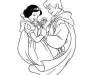 Coloriage et dessins gratuit Le charmant de blanche à imprimer