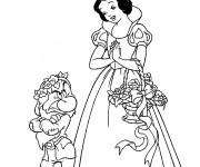 Coloriage dessin  Princesse Blanche Neige 11
