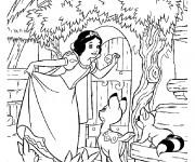 Coloriage dessin  Princesse Blanche Neige 6