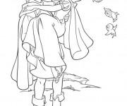 Coloriage et dessins gratuit Princesse Blanche Neige amoureuse à imprimer