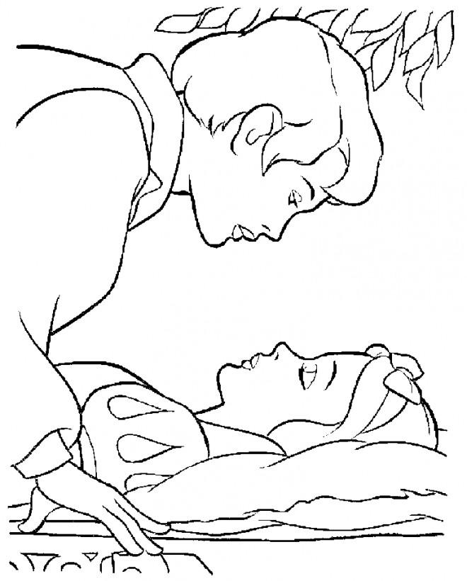 Coloriage et dessins gratuits Princesse Blanche Neige empoisonnée à imprimer
