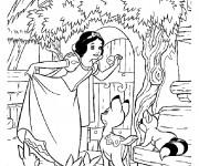 Coloriage et dessins gratuit Princesse Blanche Neige en ligne à imprimer
