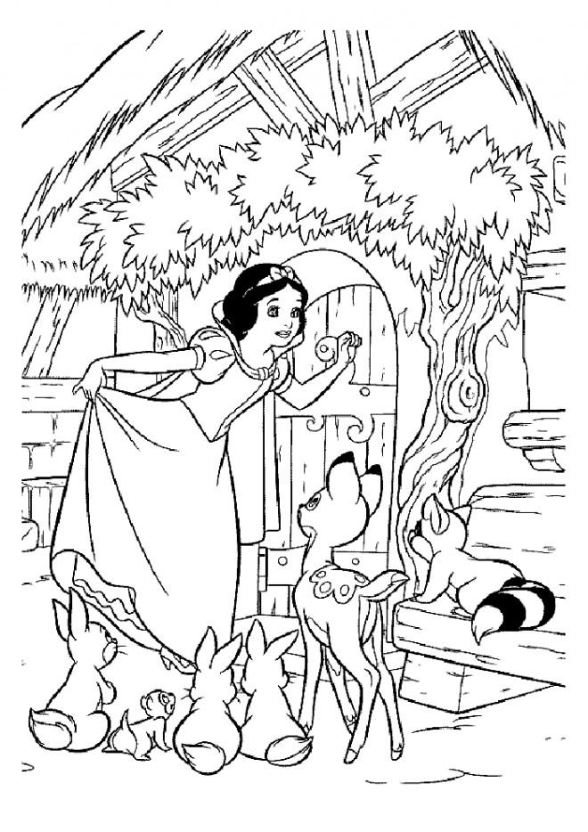 Coloriage princesse blanche neige en ligne dessin gratuit - Coloriage blanche neige a imprimer gratuit ...