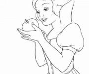 Coloriage et dessins gratuit Princesse Blanche Neige et la Pomme empoisonnée à imprimer