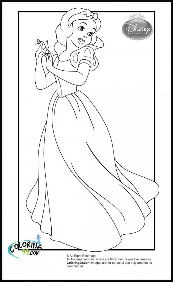 Coloriage et dessins gratuits Princesse Blanche Neige innocente à imprimer