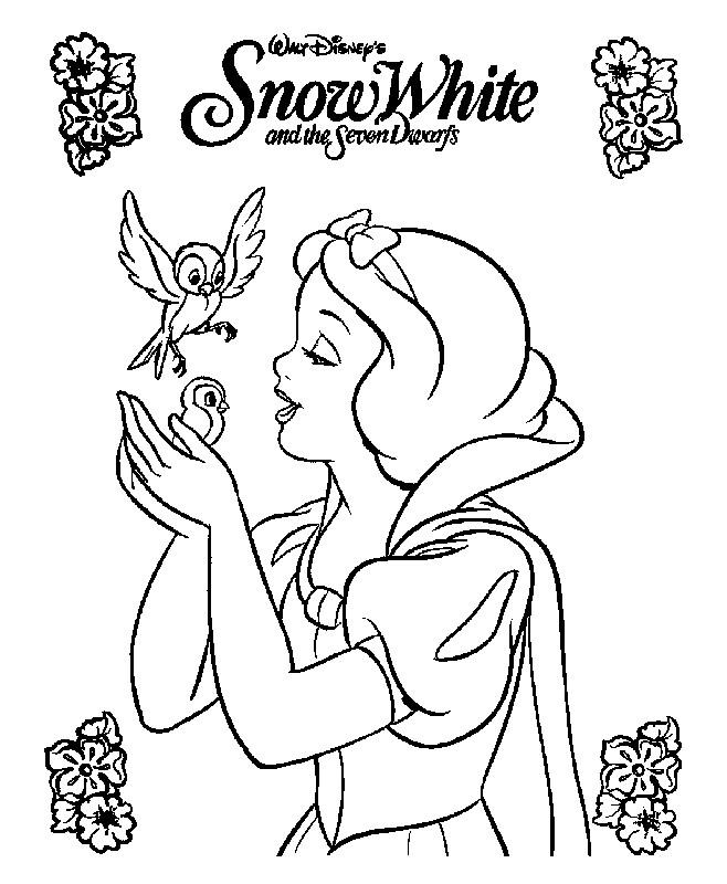 Coloriage et dessins gratuits Princesse Blanche Neige Poster à imprimer