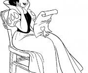 Coloriage et dessins gratuit Princesse Blanche Neige pour enfant à imprimer