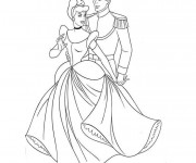 Coloriage Cendrillon et Le Prince