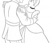 Coloriage Cendrillon et Le Prince à colorier