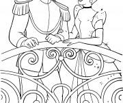 Coloriage Cendrillon et le Prince amoureux
