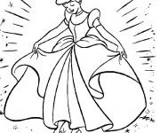 Coloriage Cendrillon et sa robe magique