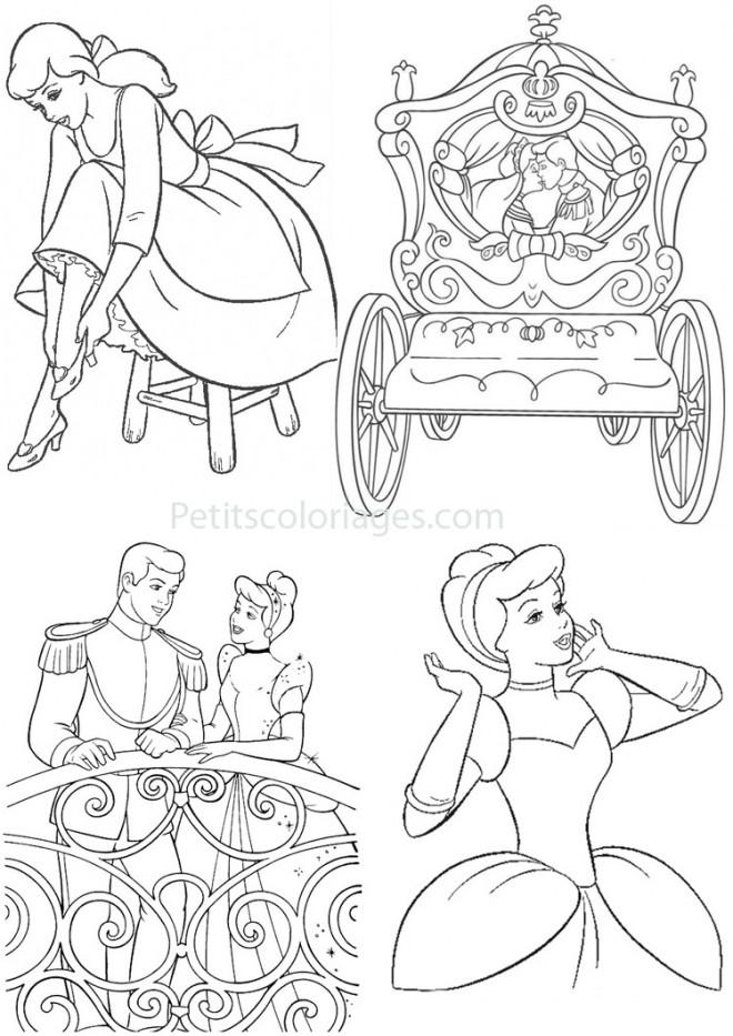 Coloriage et dessins gratuits Cendrillon Mariage à imprimer