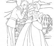 Coloriage Cendrillon rencontre Le Prince