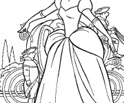 Coloriage Cendrillon Walt Disney