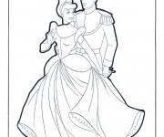 Coloriage Cinderella Walt Disney
