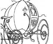 Coloriage et dessins gratuit La carrosse magique  de Cendrillon à imprimer