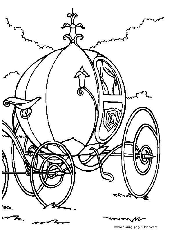 Coloriage et dessins gratuits La carrosse magique  de Cendrillon à imprimer