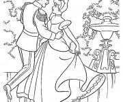 Coloriage et dessins gratuit La danse du Prince Henri et Cendrillon à imprimer