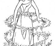 Coloriage et dessins gratuit Le déguisement de Cendrillon à imprimer