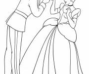 Coloriage Le Prince élégant  et Cendrillon