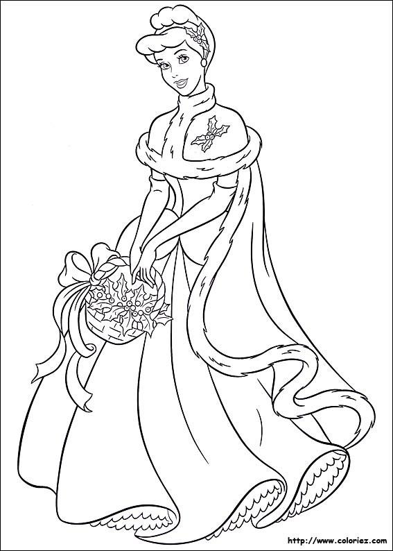 Coloriage et dessins gratuits Portrait de Cendrillon à imprimer
