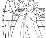 Coloriage et dessins gratuit Prince Henri complimente Cendrillon à imprimer
