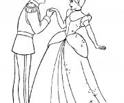 Coloriage et dessins gratuit Prince Henri et Cendrillon à imprimer