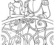 Coloriage et dessins gratuit Prince Henri et Cendrillon Disney à imprimer