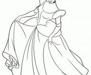 Coloriage Princesse Cendrillon à télécharger