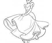 Coloriage Princesse Cendrillon aimable