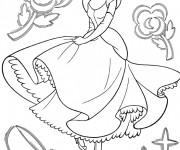 Coloriage Princesse Cendrillon Disney
