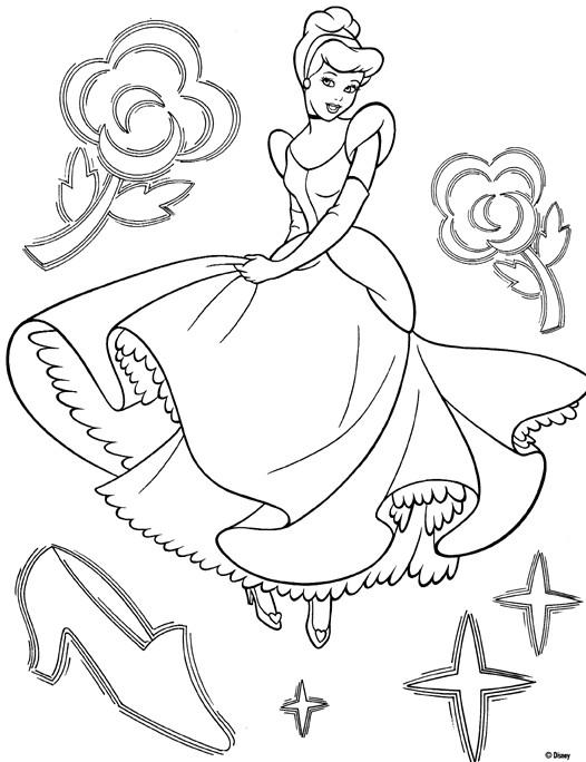 Coloriage et dessins gratuits Princesse Cendrillon Disney à imprimer