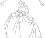 Coloriage Princesse Cendrillon en couleur