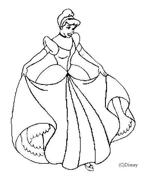 Coloriage Princesse Cendrillon En Ligne Dessin Gratuit A Imprimer