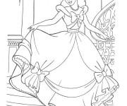 Coloriage Princesse Cendrillon en toute beauté
