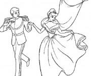 Coloriage Princesse Cendrillon et son beau mari