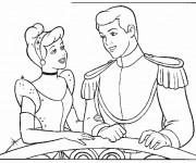 Coloriage Princesse Cendrillon et son mari