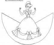 Coloriage Princesse Cendrillon facile