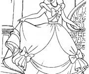 Coloriage Princesse Cendrillon formidable