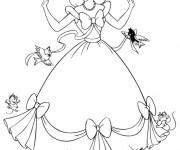 Coloriage Princesse Cendrillon Magique