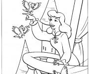 Coloriage Princesse Cendrillon pour enfant