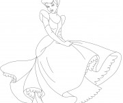 Coloriage Princesse Cendrillon stylisé
