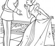 Coloriage Princesse Cendrillon vecteur
